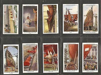 W.A & A.C Churchman- The Queen Mary (1936) Full set of 50 in lovely condition