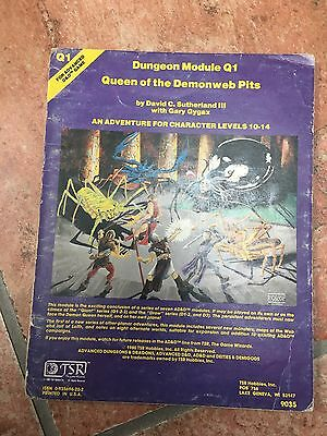 Advanced Dungeons And Dragons Dungeon Module Q1 Queen Of The Demonweb Pits
