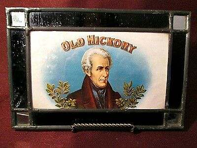 ANDREW JACKSON Old Hickory LITHOGRAPH IN STAINED GLASS Mirror Corners
