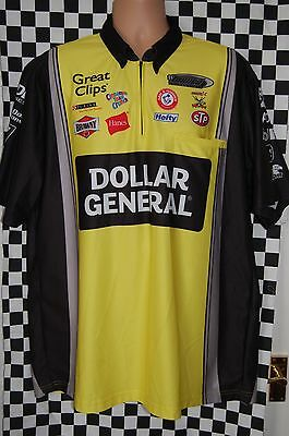 TURNER MOTORSPORT DOLLAR GENERAL Pit Shirt NASCAR RACE USED SIZE LARGE