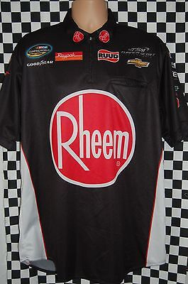 TURNER MOTORSPORT RHEEM Water Heaters Pit Shirt NASCAR RACE USED SIZE LARGE