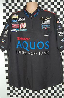 Jamie McMurray #26 SHARP Aquos Pit Shirt NASCAR RACE USED SIZE 2XL