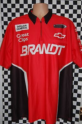 TURNER MOTORSPORT BRANDT Pit Shirt NASCAR RACE USED SIZE LARGE