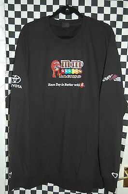 JOE GIBBS RACING Kyle Busch #18 M&M's Pit Sweatshirt NASCAR BRAND NEW SIZE 2XL