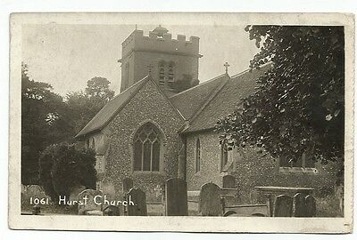 GB ppc early Hurst Church - real photo - no publisher shown