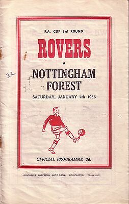 DONCASTER v NOTTINGHAM FOREST 1955/56 FA CUP 3RD ROUND