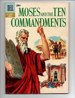 """Moses and the Ten Commandments #1 (Aug 1957, Dell) FN- 5.5 """"DELL GIANT; SEKOWSKY"""