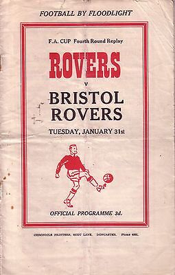 DONCASTER v BRISTOL ROVERS 1955/56 FA CUP 4TH ROUND REPLAY