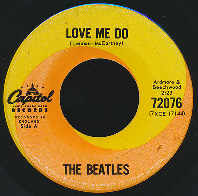 Beatles MEGA RARE FEBRUARY 1963 ISSUE ' LOVE ME DO ' CANADIAN 45! VERY 1st ISSUE
