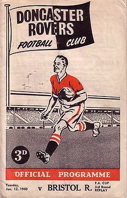 DONCASTER v BRISTOL ROVERS 1959/60 FA CUP 3RD ROUND REPLAY