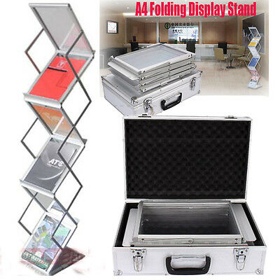 A4 Folding Literature Brochure Magazine Display Rack Exhibition Show Stand HOT