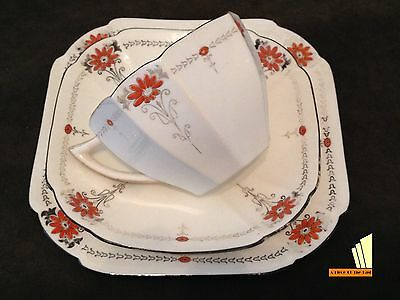 Art Deco Shelley Trio Queen Anne Style China Cup Saucer Plate 1920s
