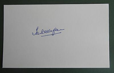 Ian Callaghan Autograph Signed 5X3 England 1966 World Cup Card Liverpool