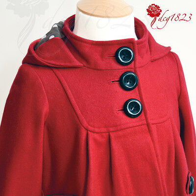 Next Signature Infant'S Red Coat With Polka Dot Lining Uk Size 12 - 18 Months