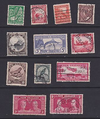 Stamps New Zealand used 1930's