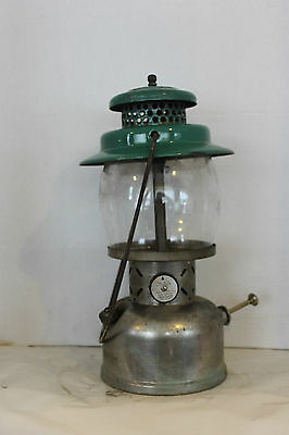 Coleman Nickel + Seafoam 236 Major Lantern April 1948 +Green Rising Sun Globe