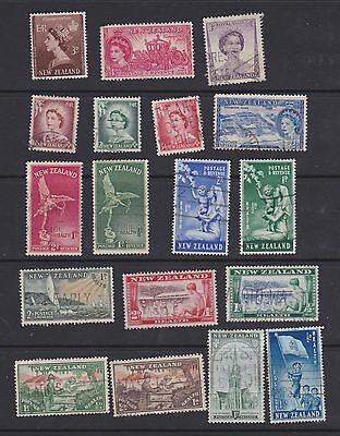 Stamps New Zealand used 1940 & 50's