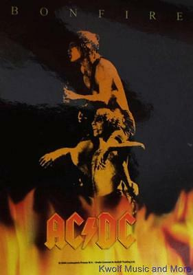 "AC/DC  Rock flag/ Tapestry/ Fabric Poster  ""Bonfire""     NEW"