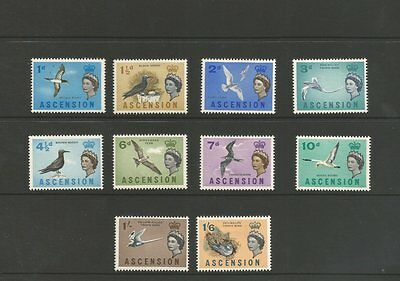 Ascension Island 1963 M/mint Short Set Of Stamps To 1/6 Sg70-79