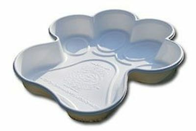 One Dog One Bone Paw Shaped Play Pool for Dogs White