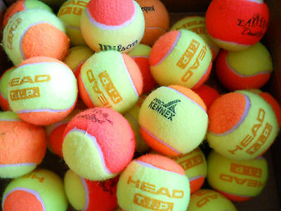 20 Used Orange Tennis Balls, Babolat, Head etc - For Children or Great Dog Toys