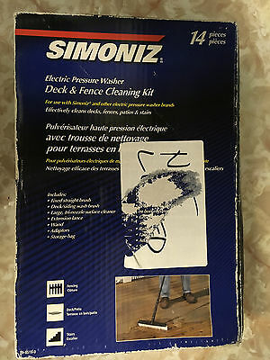 Simoniz Electric Pressure Washer Deck And Fence Cleaning Kit 14 Piece