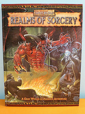 Realms of Sorcery NEW Warhammer Fantasy Roleplay 2nd Edition - Hardcover