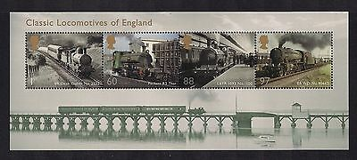 2011 Gb Qeii Classic Locomotives Of England Commemorative Mini Sheet Sg Ms3144