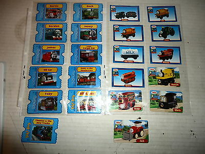 Lot Of 21 Different Thomas The Train Collectible Cards!