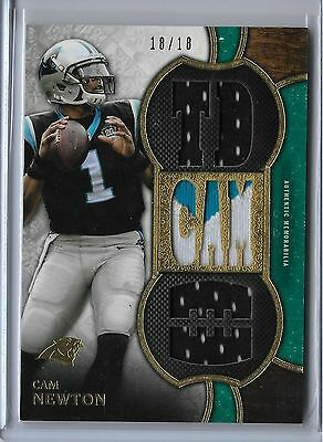 Cam Newton 2015 Topps Triple Threads Patch #TTR-CN3 18/18 ebay 1/1 Panthers