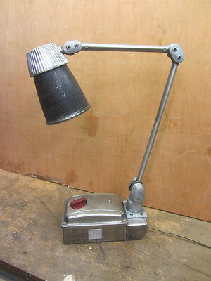 Vintage Industrial  Machinists Angle Lamp Light