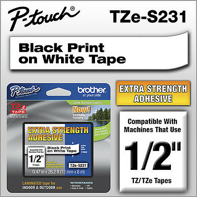Brother - TZ Industrial Label Tape - White