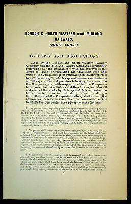 L.n.w.r & M.r. Joint Lines Byelaws & Regulations - Signed Certified Copy  - 1906
