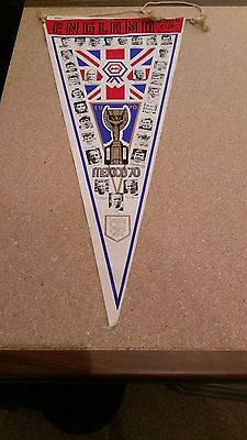 England World Cup Squad 1970 Large Vintage Football Pennant