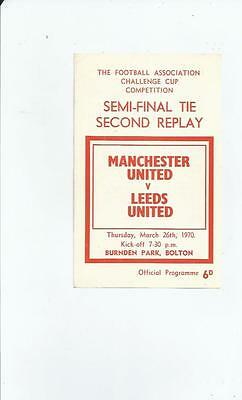 Manchester United v Leeds United FA Cup Semi Final 2nd Replay 1970 @ Bolton