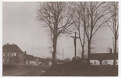 RP Card Jesus Crucifix Cross Memorial Road Junction Unknown Town Village Where?