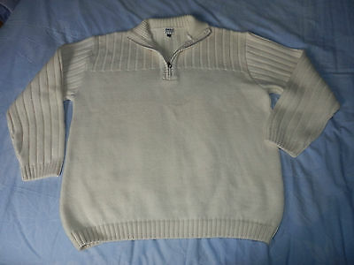 Tres Beau Pull Armor Lux Marine Blanc Taille 3 Tbe