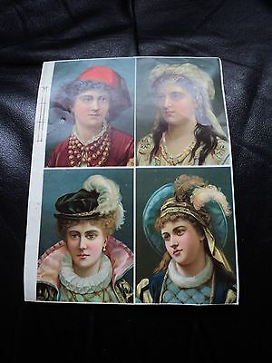 LATE 19th C. CONTINENTAL CHROMOLITHOGRAPHS. SCARCE, UNUSED PRINTER'S PART SHEET.