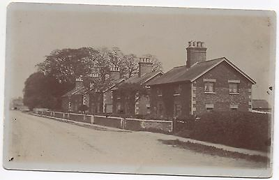 RP Postcard Unknown Where ? Village Town Location Row Identical Detached Houses