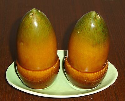 Carlton Ware - scarce acorn-shaped salt and pepper cruet set