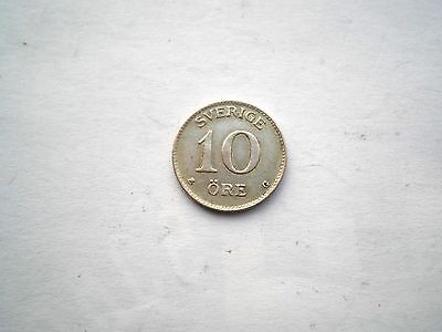 Early Hard To Find Pre Ww11- Silver 10 Ore Coin From Sweden-Dated 1938-Nice