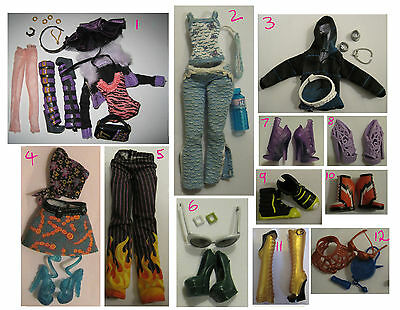 Monster High doll clothes shoes Clawdeen Holt Invisibilly Abbey Ghoulia + more