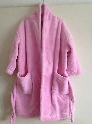 Girls fluffy pink dressing gown aged 2-3years