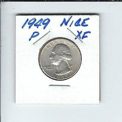 1949-P  Washington Quarter in Extra Fine Condition