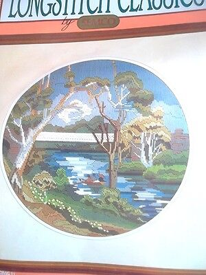 SEMCO LONGSTITCH CLASSICS KIT * BOATING ON THE RIVER * water, flowers, trees