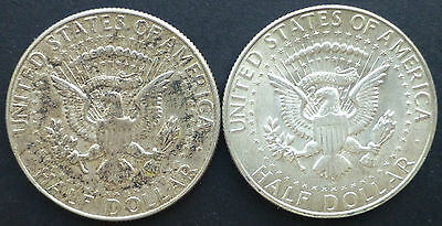 Kennedy half dollar 1965 and 1968 two coins