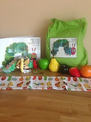 """The Very Hungry Caterpillar Story Sack - Complete with Book, Toys and """"Food"""" Set"""
