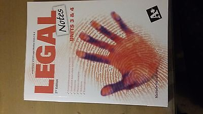 Legal Notes VCE Units 3 and 4 by Michelle Humphreys (Paperback, 2010)