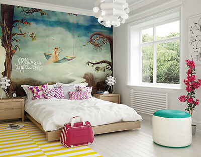 Photo Wallpaper Large Wall Mural Girls Room Wall Decor, Fairytale 3mx2.4m