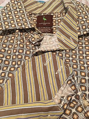 Tailorbyrd Men's Button Front Dress Shirt Pattern 2-ply Yarn – Large